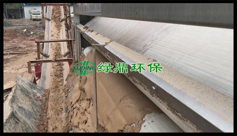 带式压滤机处理洗砂厂泥浆(河南禹州) 11