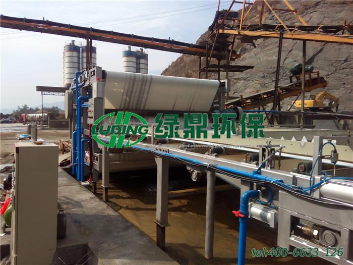 带式压滤机处理洗沙厂泥浆,处理量65~75立方每小时 1