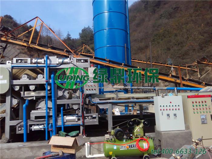 带式压滤机处理洗沙厂泥浆,处理量65~75立方每小时 2