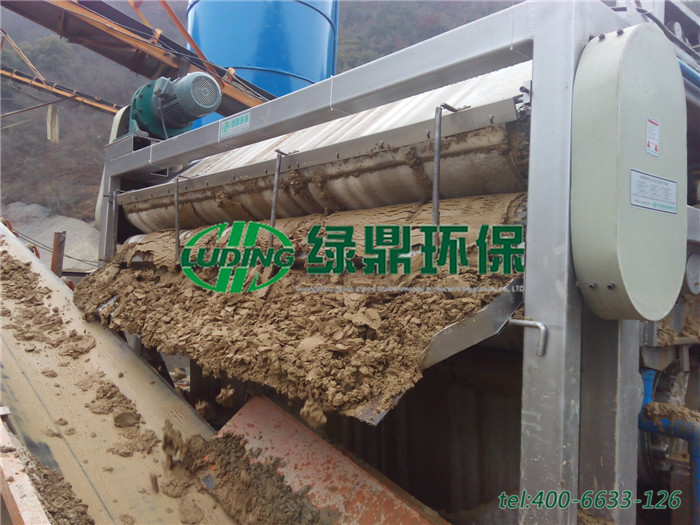 带式压滤机处理洗沙厂泥浆,处理量65~75立方每小时 3