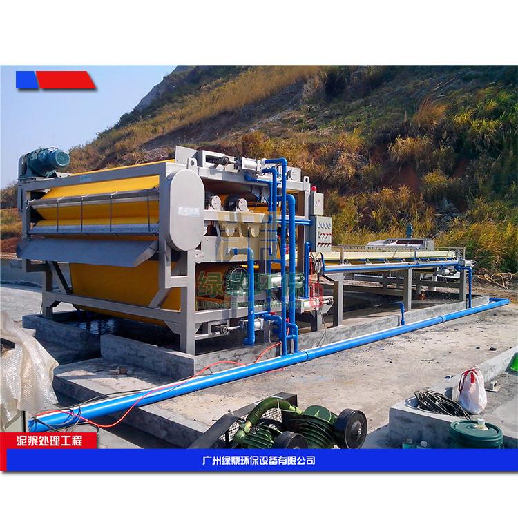 阳江建筑工地污泥处理 建筑泥浆脱水机环保工程处理方案工艺流程 3